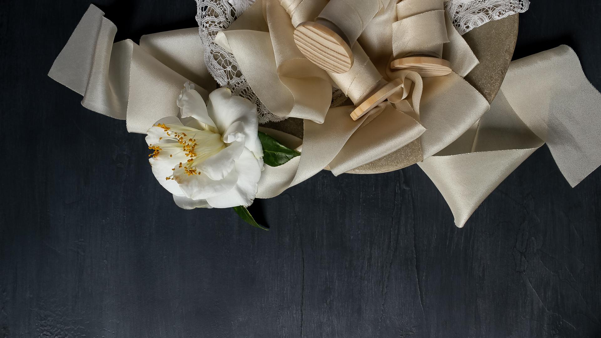 Ivory ribbon lace