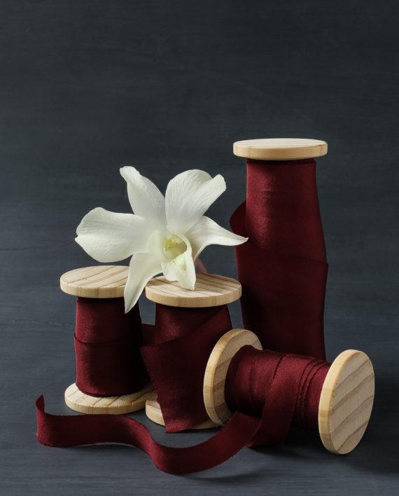 Merlot ribbon in 4 widths
