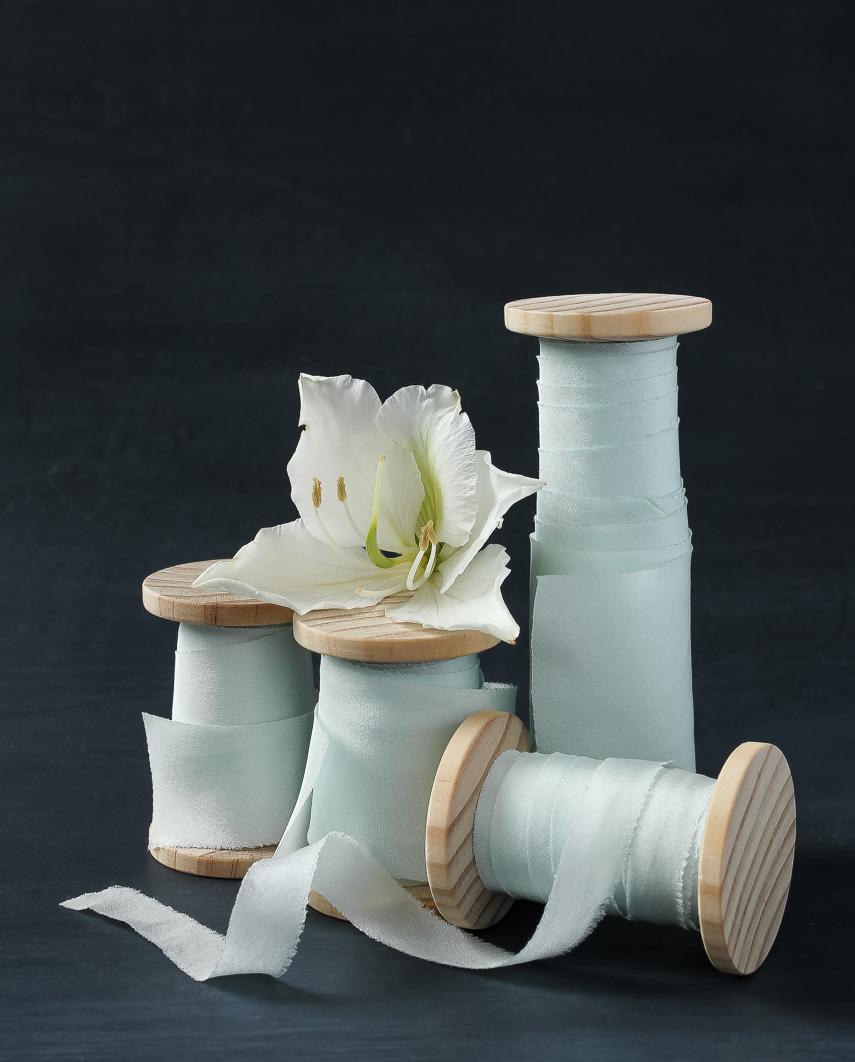 Sea Foam ribbon in 4 widths