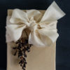 Ivory ribbon wrapping
