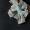 Sea Foam ribbon wrapping