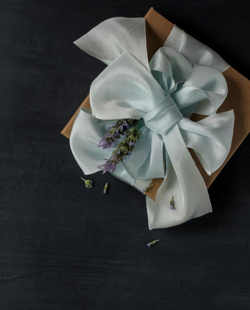 Sea Foam ribbon wrapping
