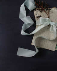 Sea Foam ribbon bow
