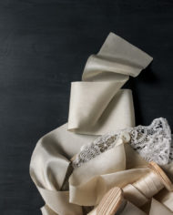 Ivory ribbon and lace