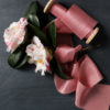 Rose ribbon with camellia